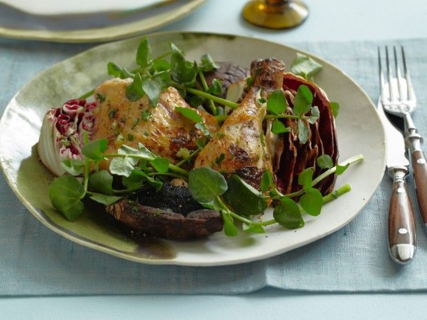 Garlicky Grilled Chicken Portobello and Radicchio Salad from ...