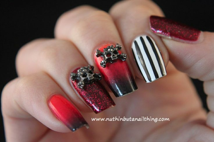 gothic nail art | nail art | Pinterest