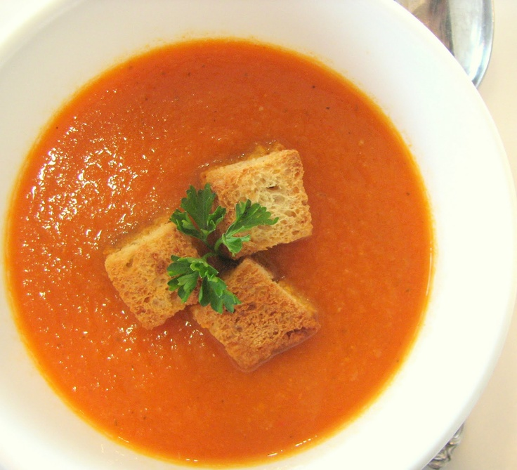 Roasted Red Pepper Soup - in the vitamix | Vitamix Recipes | Pinterest