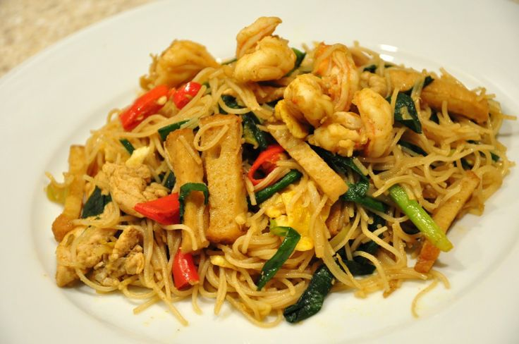 Singapore Fried Rice Noodle | Recipes I Want To Try | Pinterest