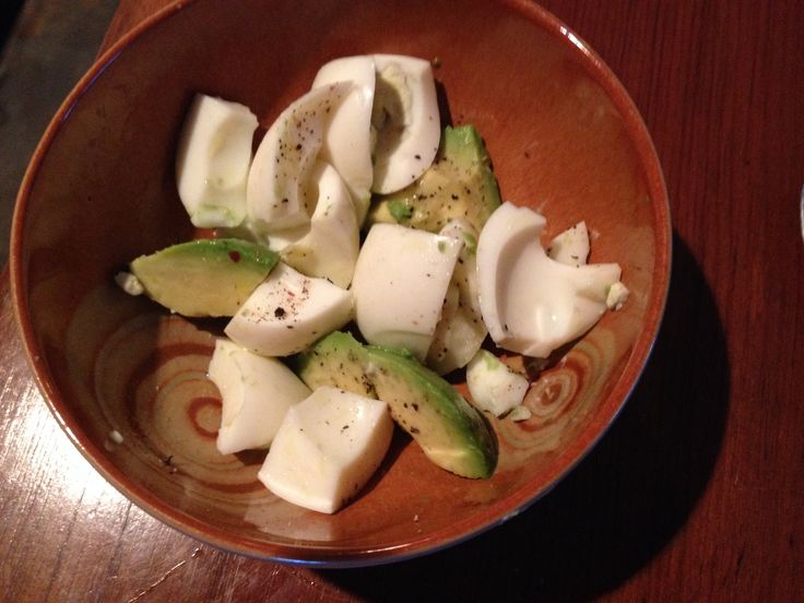 My favorite breakfast: 2 hard boiled egg whites, 1/2 avocado, 1 tsp ...