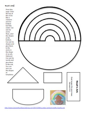 Noah's ark craft template
