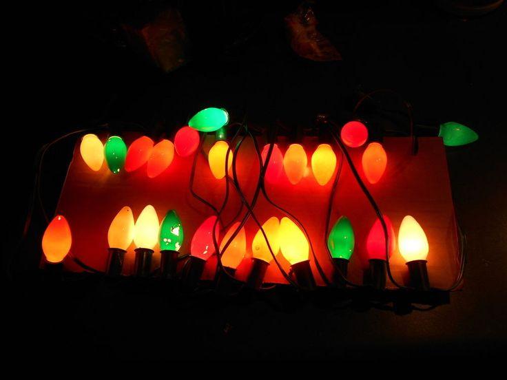 Vintage Christmas Light Set String C9 25 lights Working C 9