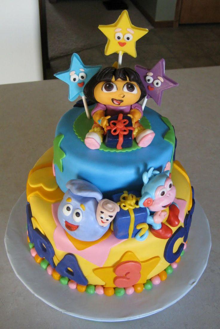 dora cake | Custom Cakes by Julie: Dora Cake 2