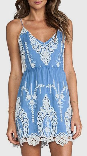 Super blue summer dress