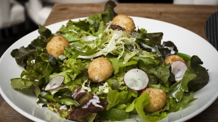 Fried Goat Cheese Salad Recipe Recipe | Foodie | Pinterest