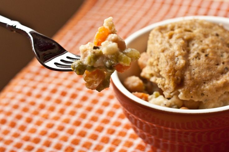 Chickpea Crockpot Pie with Biscuit Topping | Peas and Thank You | # ...