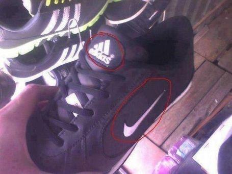 Funny Nike Adidas