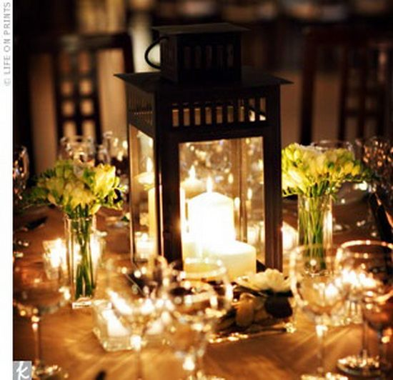 Lantern centerpiece wedding ideas pinterest