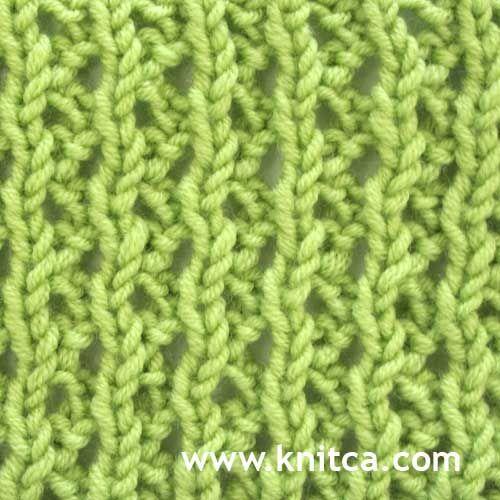 Knitting Stitches Glossary : knitting stitch pattern   Lace 15 Stitch dictionary Pinterest