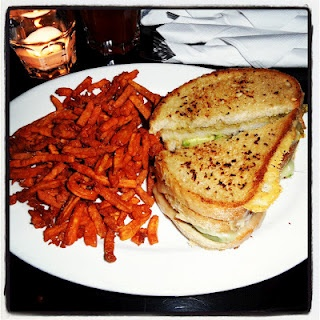 , jalepeno and avocado grilled cheese with garlic butter and tomato ...