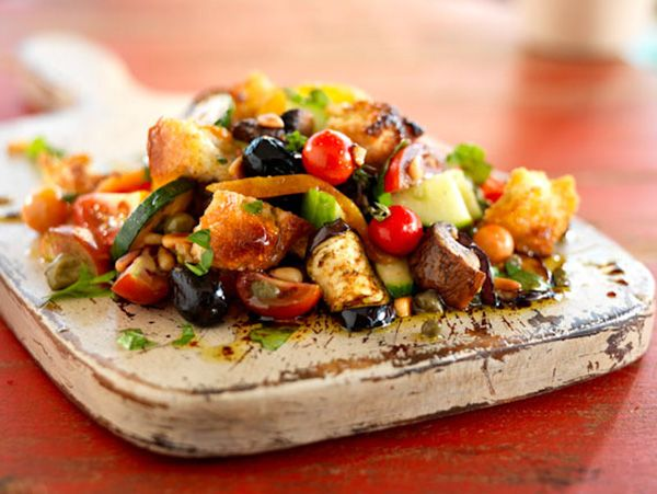 Panzanella Bread Salad | Eat, Drink, & ENJOY! | Pinterest