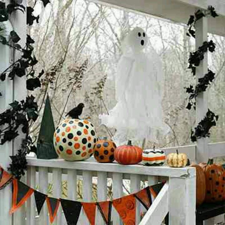 front porch decor halloween pinterest