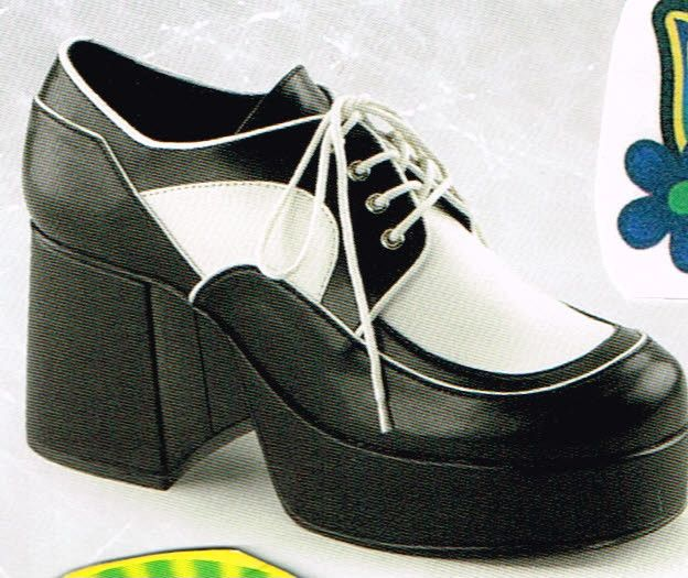 70 s mens black white platform shoes in size m 10 11 on