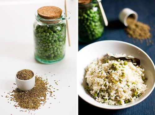 Green Pea Pulao (or Rice Pilaf) | Asian | Pinterest