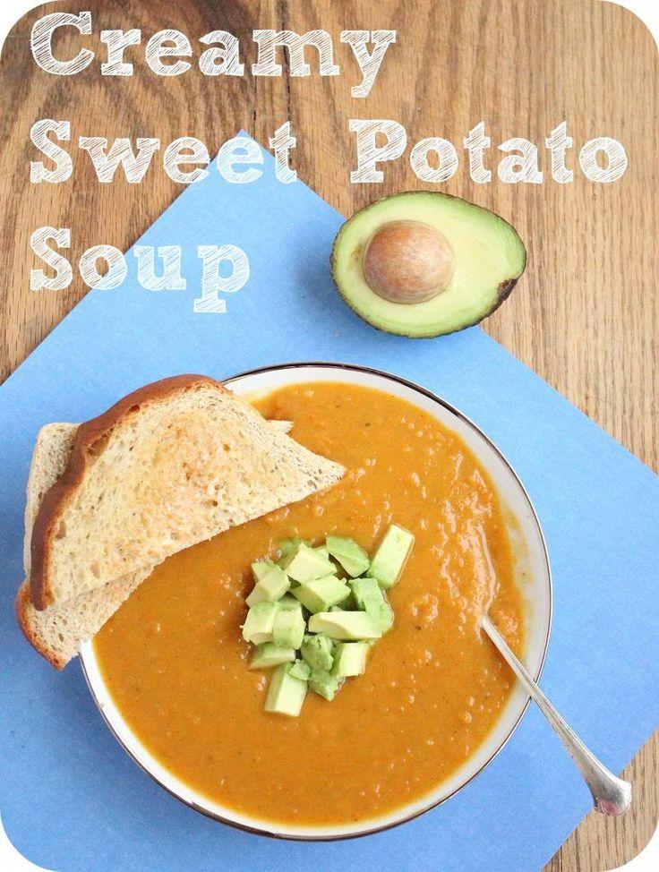 Vegan Creamy Sweet Potato Soup » | Veganism | Pinterest