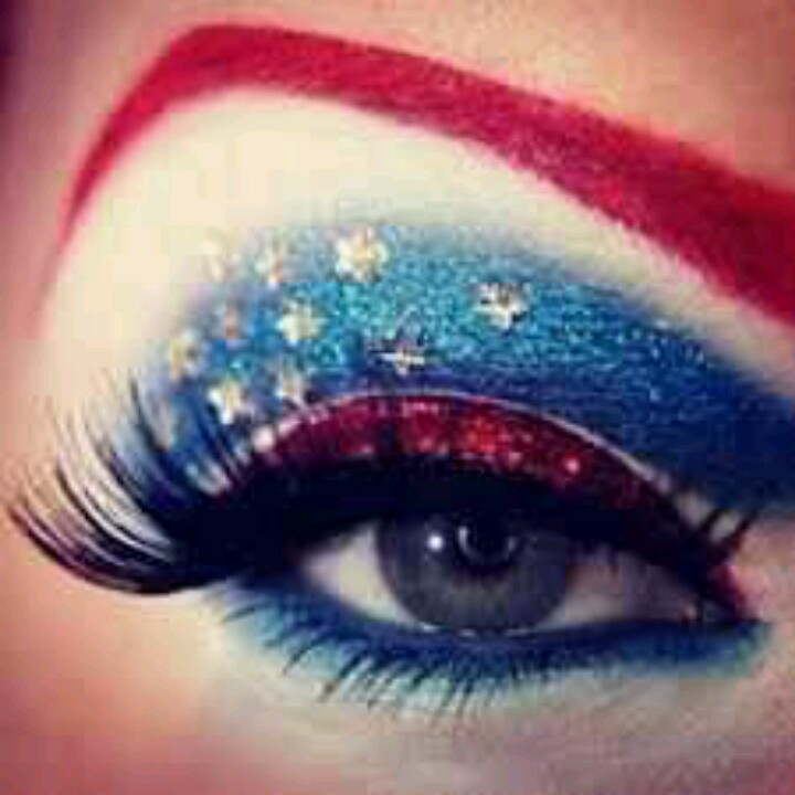 Very Patriotic Makeup I Love Pinterest