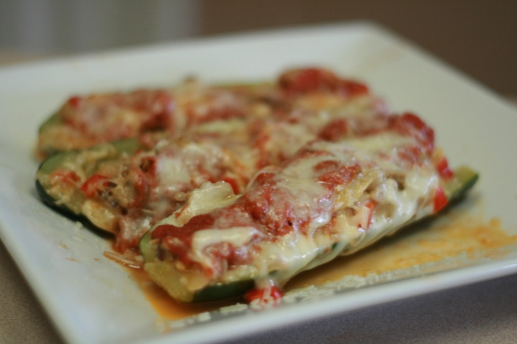 Sausage Stuffed Zucchini Boats | Yummy! | Pinterest