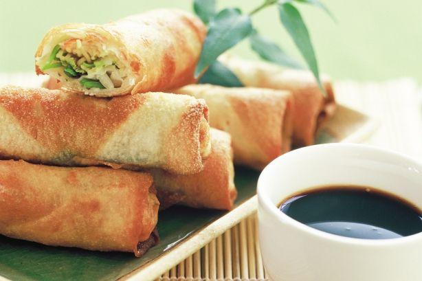 Vegetable spring rolls   Food Snobbery   Pinterest