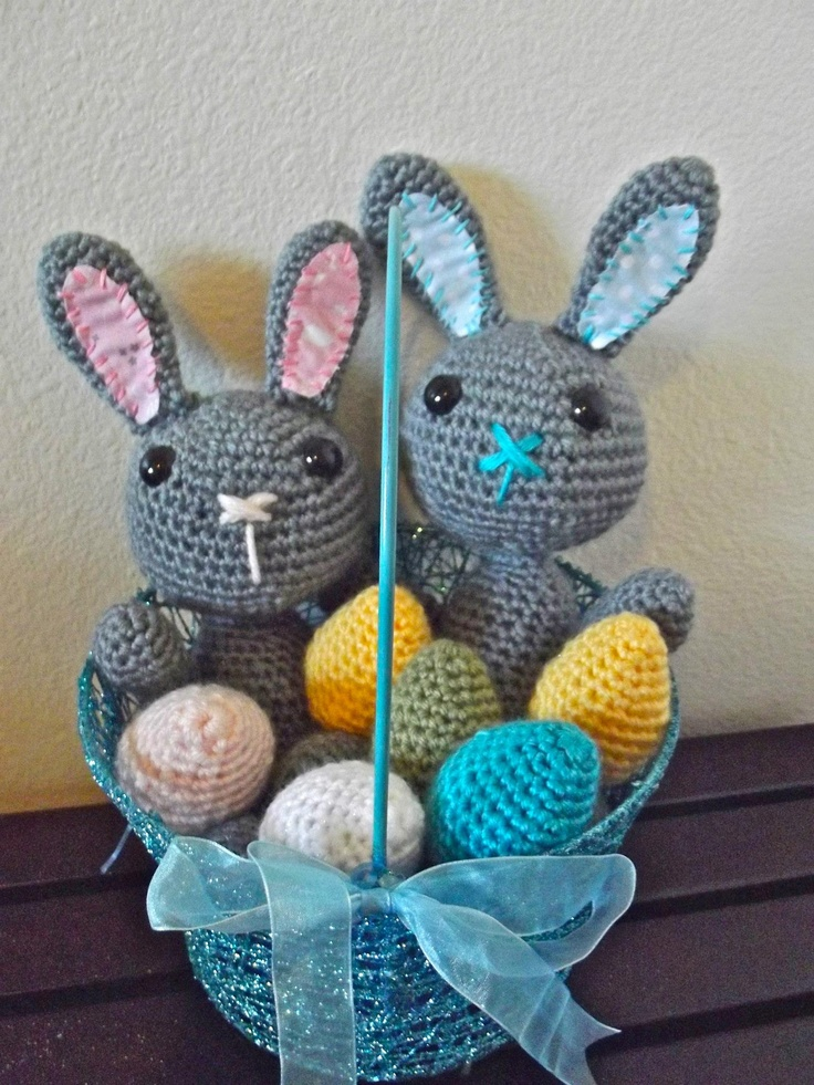 Free Crochet Pattern For Bunny Pin : free easter bunny crochet pattern. Making My Own Pinterest