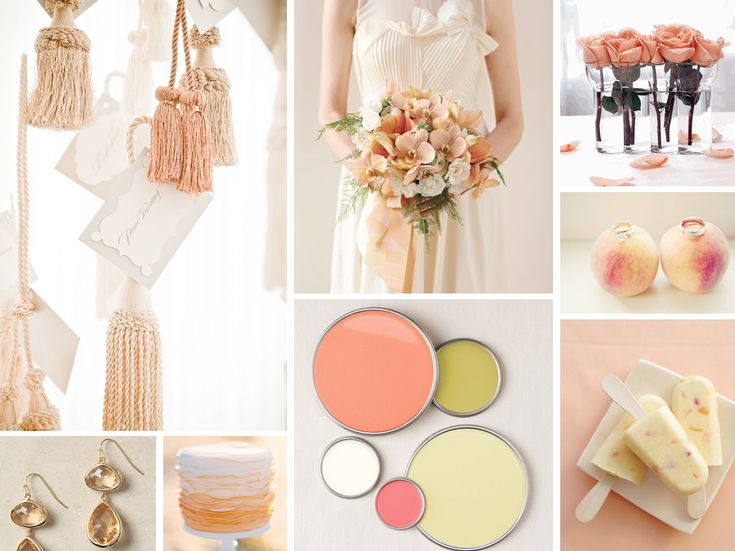 {james and the giant peach} ivory, cream, light green, and peach wedding