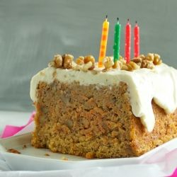 carrot cake with mascarpone lime frosting from jamie oliver