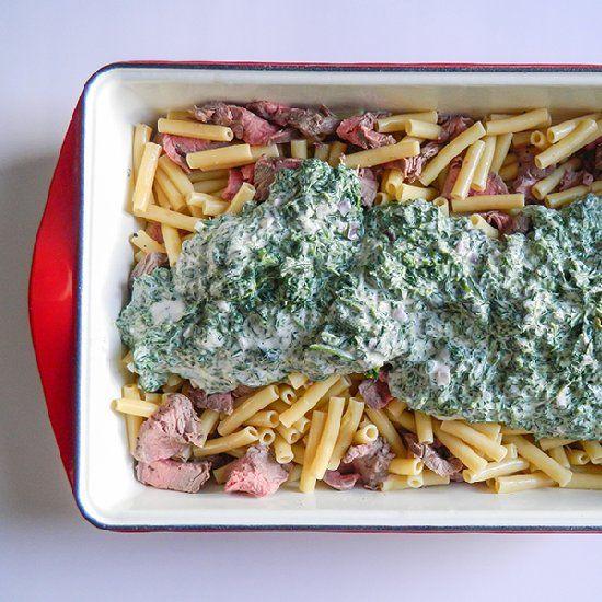 Boursin, Steak & Spinach Bake   Dinner Comforts   Pinterest