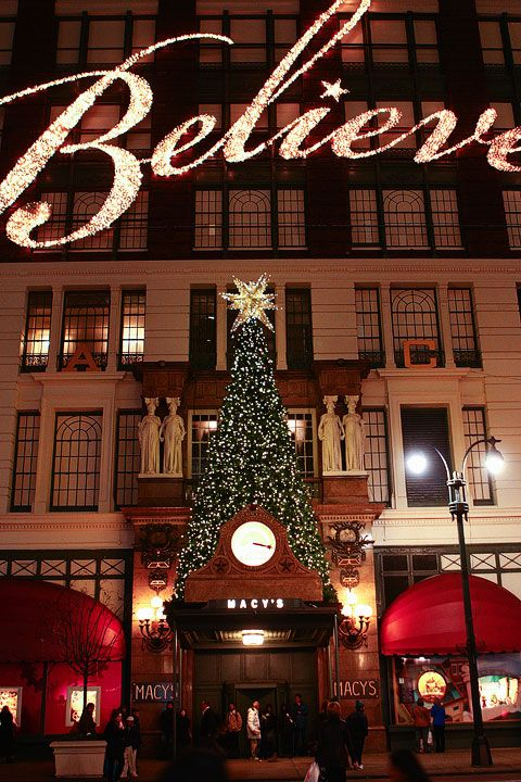 NYC at CHRISTMAS - Macy's window displays are some of the best and the inside of the store is beautifully decorated as well.