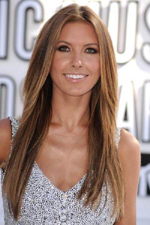 Medium Brown Hair with Honey Highlights