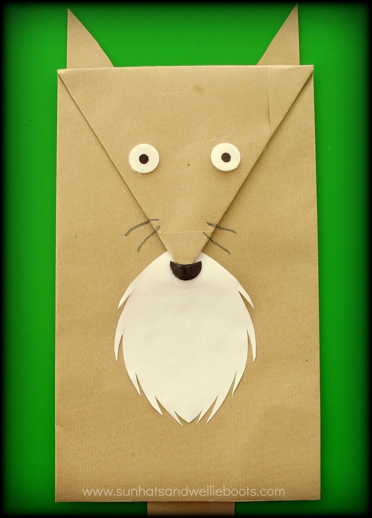 Fox Puppet made from an Envelope | Pinocchio | Pinterest