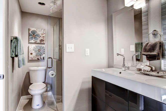 Beautiful bathroom small space reno basement bathroom for Beautiful bathrooms for small spaces