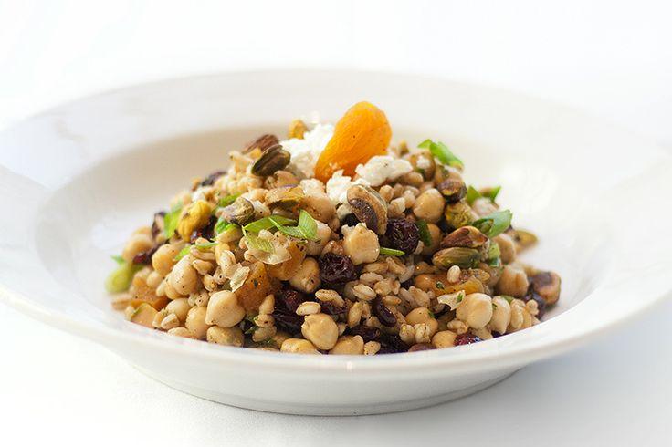 Moroccan chickpea farro salad