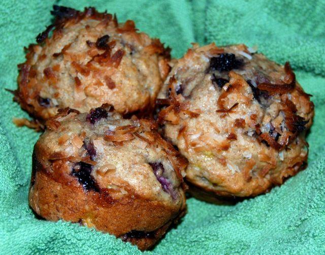 Blackberry Banana Coconut Muffins from jessfuel.com