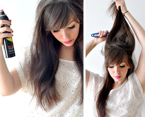 A bunch of tutorials on how to add volume to your hair!