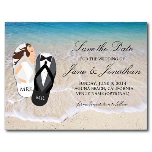 Beach ocean quot mr and mrs quot wedding save the date postcards