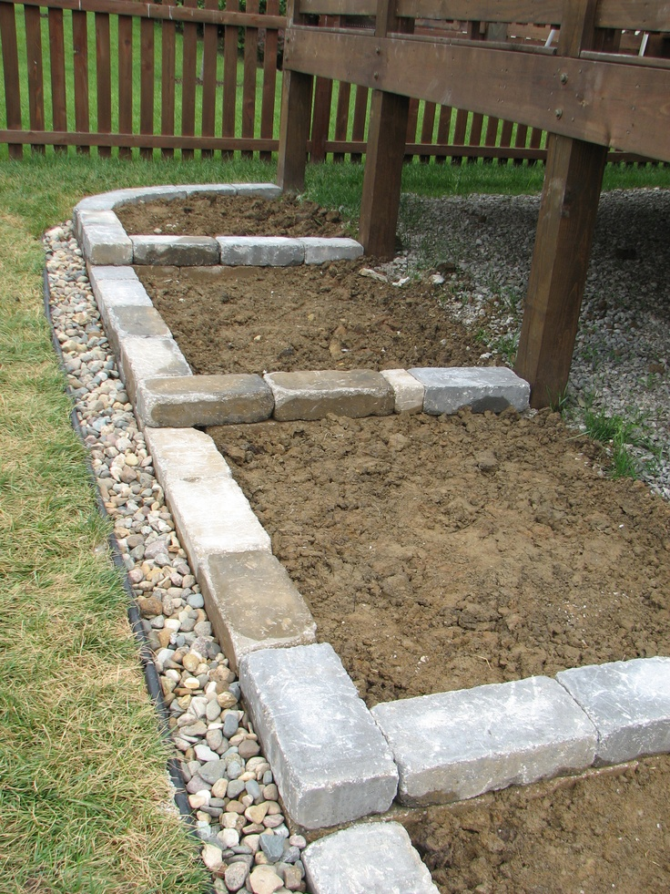 Backyard Hill Drainage : Terraces help keep soil and mulch from sliding downhill French drain