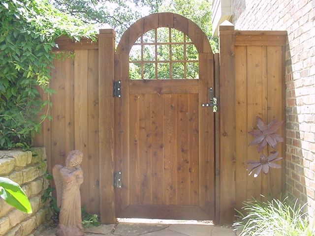 Arched gate great outdoors pinterest for How to decorate a garden gate