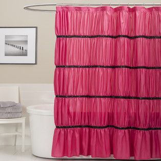 Pink shower curtains fabric - Pink Shower Curtain Pink Rose Bathroom Pinterest