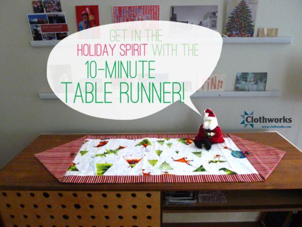 10 minute table runner easy homemade gift tutorials for 10 minute table runner directions