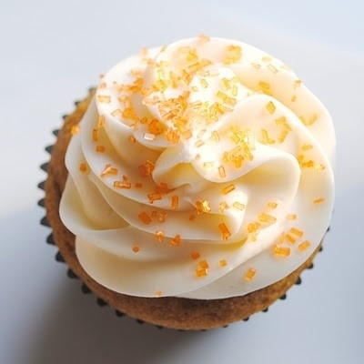 Pumpkin cupcakes with ginger cream cheese frosting!!!