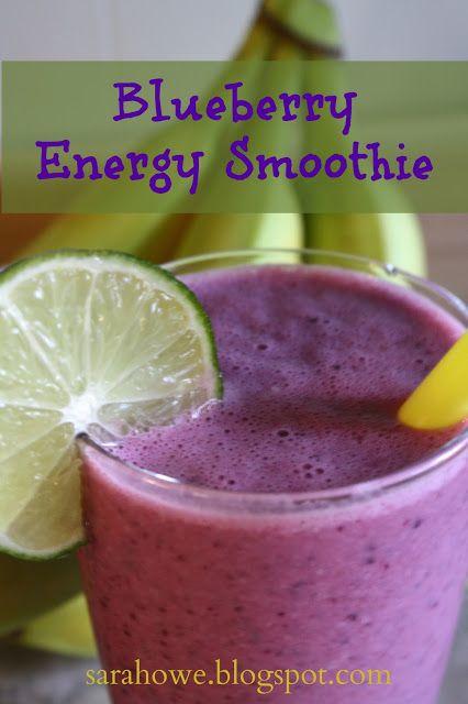 Blueberry Energy Smoothie | Drinks & Smoothies | Pinterest
