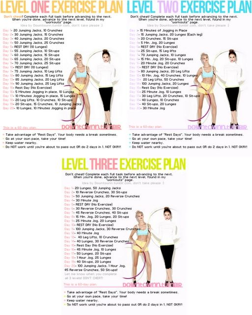Exercise plans fitness