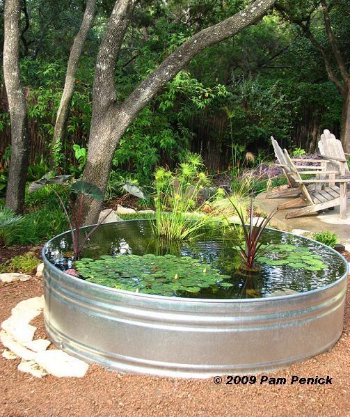 Stock Tank Container Pond The Secret Garden Pinterest