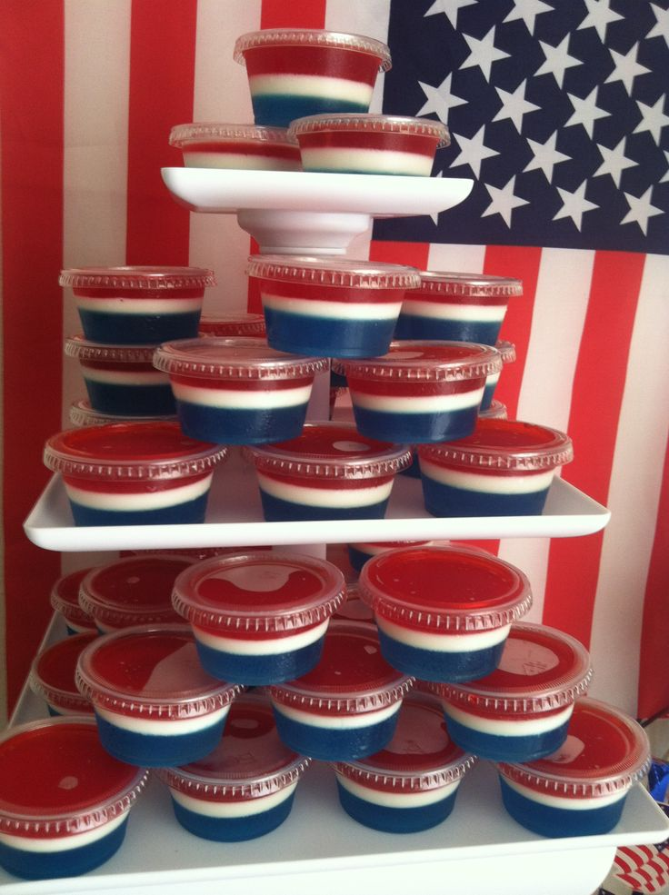 4th of july jello cupcakes
