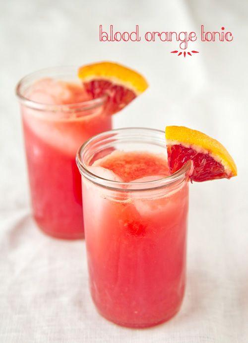 Blood Orange Tonic | Libations (Virgin) | Pinterest