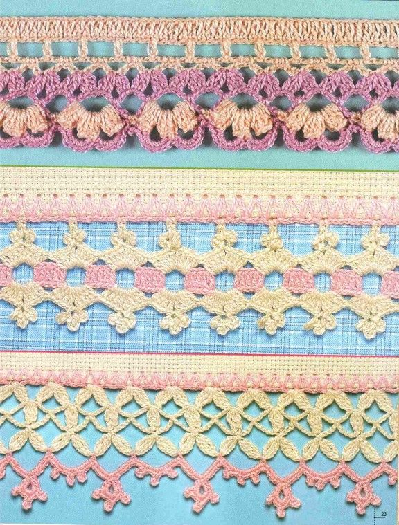Crochet borders crochet Pinterest
