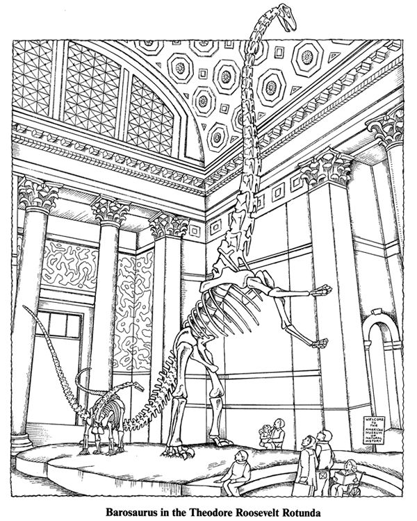 Museum Of Natural History 1 Coloring Pages Pinterest At The Museum Coloring Pages