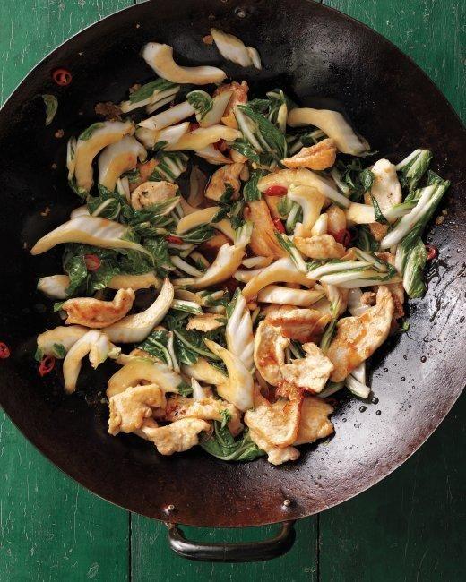Stir-Fried Chicken with Bok Choy Recipe in under 30 minutes