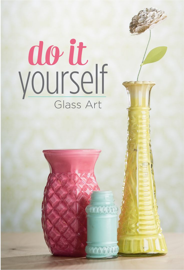 Breathe new life in to old glassware with this simple #DIY project. http://s.tamp.in/diy-glass-art