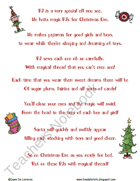Elf Poems For Christmas | New Calendar Template Site